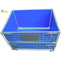 Stacking Turnover Container Warehouse Shelves Storage Metal Pallet Bins Crates for sale