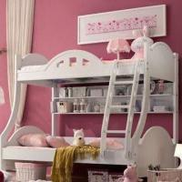 Bunk Bed for Girls with Matte Painting Surface Finish, Made of MDF, Measures 120 x 190cm Manufactures