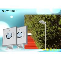 OEM / ODM solar powered outdoor street lights Bridgelux Led Light Source 12V 6AH Lithium Battery Manufactures