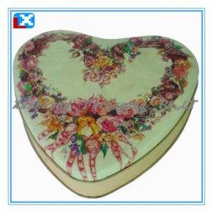 China heart-shaped chololate tin box on sale