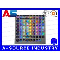 Silver Security Custom Holographic Stickers Label Tamper Proof Seal Custom Design Manufactures