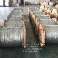 Non - Alloy Galvanized Steel Core Wire , Stiffness 3 16 Galvanized Steel Cable Manufactures