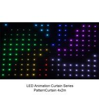 Full Color P9 to P20 4 x 3m LED Video Curtain , Flexible Soft Led Stage Screen 200w Manufactures