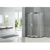 Mirror Color Sliding Offset Shower Enclosure Clear / Printed Tempered Glass CE Certification Manufactures