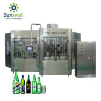 Rotary Type Beer Can Filling Machine , Bottle Filling And Capping Machine Manufactures