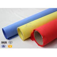 Red Silicone Rubber Coated Fiberglass Engineer Acoustic Insulation Fabric Material Manufactures