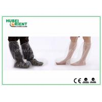 Plastic Disposable Shoe Cover Outdoor / Waterproof Rain Boot Cover For Hospital Manufactures
