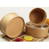 Brown Kraft Paper Container Take Away Food Boxes and disposable ice cream cups Manufactures