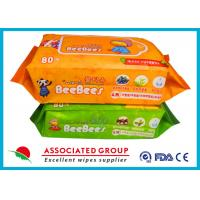 Plant Vera Series  Baby Wet Tissue Big Sticker For Hand & Body Cleaning Manufactures
