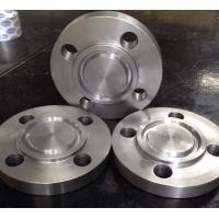 Compatible Stainless Pipe Flanges , Weld On Pipe Fittings Gold Color JIS B 2220 Spades for sale