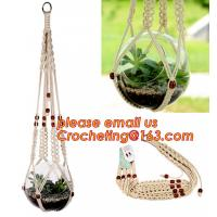 Wholesale 1pcs Macrame Plant Hanger Heavy Duty Patio Balcony Deck Ceiling For Round Square Containers Pots Indoor Decora Manufactures