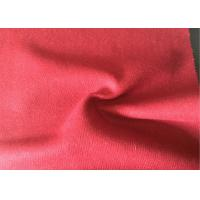 Lovely Felted Wool Fabric Red Color , Wool Blend Suiting Fabric 55g/M Manufactures