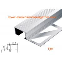 China Architectural Aluminum Stair Nosing , Grooved Safety Tread Stair Nosings For Carpet on sale
