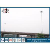 China 28m Q345 Material Metal Light Pole Customized Carolina With Lifting Systems on sale