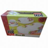 20pcs Porcelain Dinnerware Set, Color Box Packing, Full-color Cut Decal Printing, Customized Designs Manufactures
