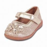 Girls' Dress PU Shoe with Golden PU Lining and Insole Manufactures