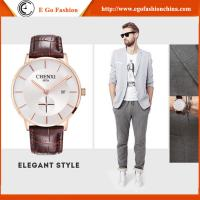 Trendy Watch for Business Man Sport Wristwatches Men Stainless Steel Genuine Leather Watch Manufactures