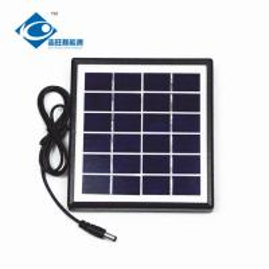 2W 6V stainless steel frame solar for solar phone charger ZW-2W-6V pv solar panel photovoltaic for ups inverter Manufactures