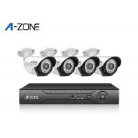 Quality 2MP 4 Channel IP CCTV Camera Kits , Metal Bullet Hd Ip Nvr Security System for sale