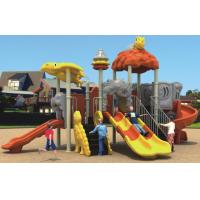 kids plastic outdoor playground with double slide and spiral slide Manufactures