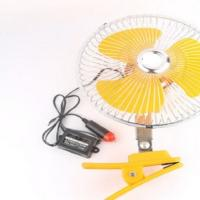 Yellow Electric Cooling Fans For Cars Back Guard With 8 Inch Oscillating Manufactures