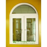 China White PVC Windows With Arched For Villas, 6mm tempered glass, double swing casement window on sale