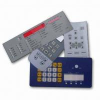 Industrial Nameplates, Graphic Overlays for Control Panels with 0.05 to 1.0mm Thickness Manufactures