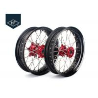 China 18 Inch CNC Aluminium Aftermarket Motorcycle Wheels ,  Black Motorcycle Rims With Hub on sale