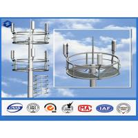 China Q345 steel material monopole telecommunications tower  6 - 28 mm Thickness on sale