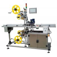 Top And Bottom Surface Automatic Labeling Machine Automatic Sticker Labeling Applicator Manufactures