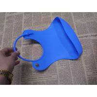 OEM Protable Flexible Waterproof Silicone Baby Bibs of Blue for sale