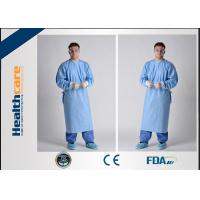 Lightweight Disposable Surgical Gowns With Knitted Cuff Blood Resistence 130x150 Sterile Coat