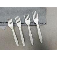 China 5.5/6.3/7 Inch compostable fork, biodegradable high quality Corn Starch plastic cutlery on sale