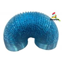Ventilation application single or double layer aluminum foil and polyester blue flexible duct Manufactures