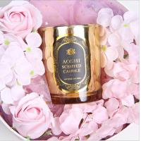 Gold Glass Jar Room Scented Candles Electroplated Luxury Scented Candle Manufactures