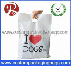 Biodegradable PO Die Cut Handle Plastic Bags For Clothes Shop