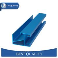 Industrial Blue Aluminum Extrusion Profiles Non Polished For Door Frame Manufactures