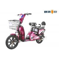China 48V Electric Moped Scooter For Adult Small Backrest 350W / 500W Motor Power on sale