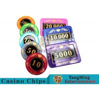 730pcs Crystal Screen Style Numbered Poker Chip Set With Aluminum Case Manufactures