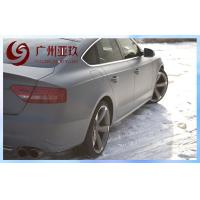 Grey Car Matte Vinyl Wrap Film With Air Release Channels Manufactures