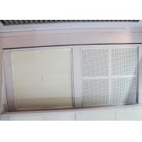 China Painted and Reflective Finishes Clip In Ceiling Tiles with Sound Absorbing Inlays on sale
