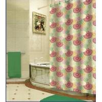 China Waterproof Printed PEVA Plastic Shower Curtain Bath Accessory Sets on sale