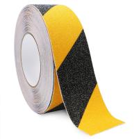 Yellow Black Anti Slip Adhesive Safety Tape High Traction Warning For Outdoor Steps Manufactures