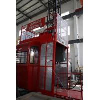 Double Cage Construction Material Hoist Lifting Equipment 36 M / Min 60HZ Ketong SC200 200TD Manufactures