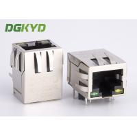 Industrial ethernet connector single port integrated magnetics rj45 jack Manufactures