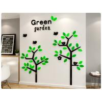 Buy cheap Wholesale customized tree wall stickers self-adhesive acrylic material wall from wholesalers