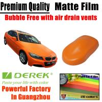 China Matte Car Wraps Vinyl Film - Matte Orange Car Wrapping Film on sale