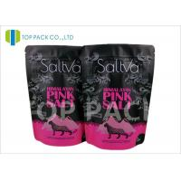 Stock Reusable Printed Stand Up Pouches Aluminum Foil Top Ziplock Window Salt Packing Manufactures