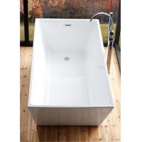 Reinforced 5 Foot Soaker Tub , Corner Freestanding Tub With Faucet Holes
