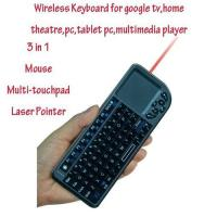 2.4G RF Mini Wireless Keyboard with touchpad and mouse,laser pointer for google tv and htpc Manufactures